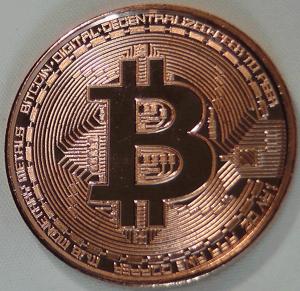 Bitcoin acuñado en Cobre